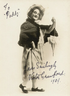 VICTOR CRAWFORD - AUTOGRAPHED INSCRIBED PHOTOGRAPH 1929