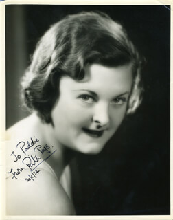 RITA PAGE - AUTOGRAPHED INSCRIBED PHOTOGRAPH 01/30/1934