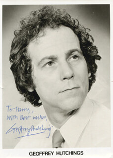 GEOFFREY HUTCHINGS - AUTOGRAPHED INSCRIBED PHOTOGRAPH
