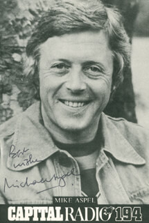 MICHAEL ASPEL - AUTOGRAPHED SIGNED PHOTOGRAPH