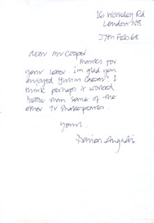 DARIEN ANGADI - AUTOGRAPH LETTER SIGNED 02/27/1968