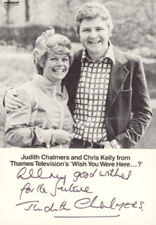 JUDITH CHALMERS - AUTOGRAPHED SIGNED PHOTOGRAPH