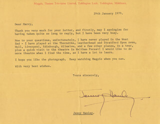 JENNY HANLEY - TYPED LETTER SIGNED 01/29/1979