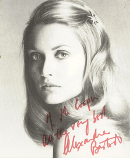ALEXANDRA BASTEDO - AUTOGRAPHED INSCRIBED PHOTOGRAPH