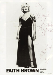 FAITH BROWN - AUTOGRAPHED INSCRIBED PHOTOGRAPH