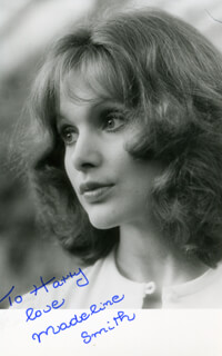 MADELINE SMITH - AUTOGRAPHED INSCRIBED PHOTOGRAPH