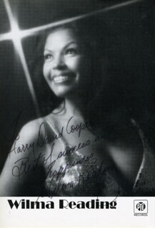 WILMA READING - AUTOGRAPHED INSCRIBED PHOTOGRAPH