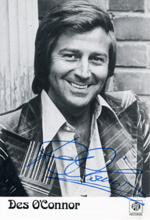 DESMOND DES O'CONNOR - AUTOGRAPHED SIGNED PHOTOGRAPH