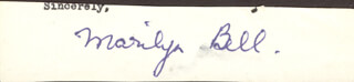 Autographs: MARILYN BELL - TYPED SENTIMENT SIGNED
