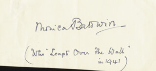 MONICA BALDWIN - AUTOGRAPH QUOTATION SIGNED