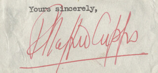 Autographs: SIR R. STAFFORD CRIPPS - TYPED SENTIMENT SIGNED