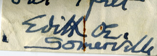 EDITH OENONE SOMERVILLE - CLIPPED SIGNATURE