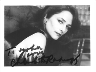 CHARLOTTE RAMPLING - AUTOGRAPHED INSCRIBED PHOTOGRAPH