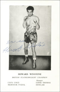 HOWARD WINSTONE - AUTOGRAPHED SIGNED PHOTOGRAPH