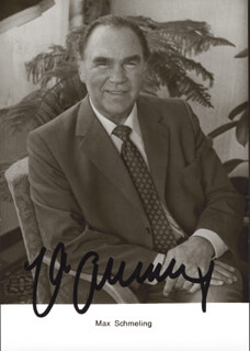 MAX SCHMELING - PICTURE POST CARD SIGNED