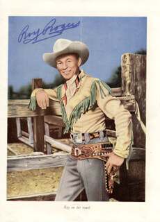 ROY ROGERS - MAGAZINE ILLUSTRATION SIGNED