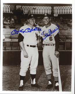 MICKEY MANTLE - AUTOGRAPHED SIGNED PHOTOGRAPH CO-SIGNED BY: STAN THE MAN MUSIAL