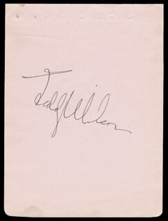 TEDDY WILSON - AUTOGRAPH CO-SIGNED BY: ZIGGY ELMAN, BEN HELLER, HARRY GOODMAN