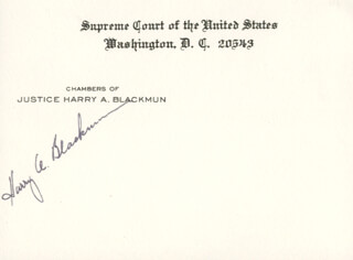 Autographs: ASSOCIATE JUSTICE HARRY A. BLACKMUN - SUPREME COURT CARD SIGNED