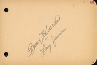 BRUCE BULL EDWARDS - AUTOGRAPH CIRCA 1956 CO-SIGNED BY: LARRY JANSEN