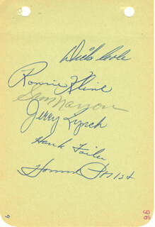 Autographs: THE PITTSBURGH PIRATES - SIGNATURE(S) CIRCA 1956 CO-SIGNED BY: DICK COLE, SAM NARRON, HOWIE POLLET, RON KLINE, JERRY LYNCH, HANK FOILES