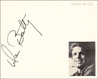 WARREN BEATTY - AUTOGRAPH
