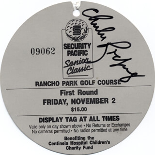 CHI CHI (JUAN) RODRIGUEZ - TICKET SIGNED 11/02/1990