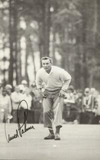 ARNOLD PALMER - BOOK PHOTOGRAPH SIGNED