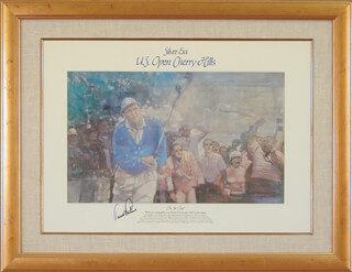 ARNOLD PALMER - PRINTED ART SIGNED IN INK CIRCA 1985
