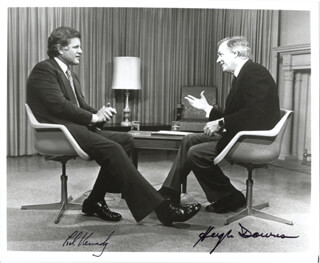 EDWARD TED KENNEDY - AUTOGRAPHED SIGNED PHOTOGRAPH CO-SIGNED BY: HUGH DOWNS