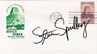 STEVEN SPIELBERG - FIRST DAY COVER SIGNED