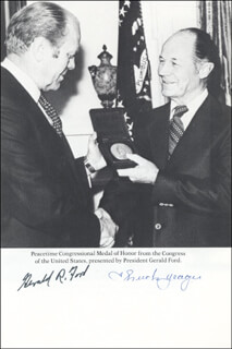 PRESIDENT GERALD R. FORD - MAGAZINE PHOTOGRAPH SIGNED CO-SIGNED BY: BRIGADIER GENERAL CHUCK YEAGER