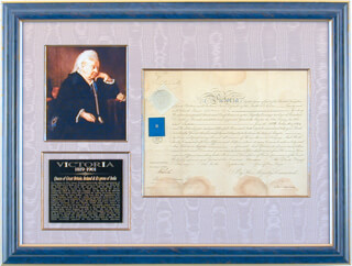 Autographs: QUEEN VICTORIA (GREAT BRITAIN) - MILITARY APPOINTMENT SIGNED 02/15/1855