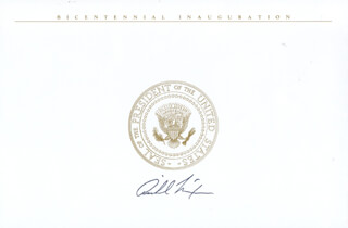 PRESIDENT RICHARD M. NIXON - INAUGURAL CARD SIGNED