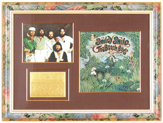 THE BEACH BOYS - RECORD ALBUM COVER SIGNED CO-SIGNED BY: THE BEACH BOYS (MIKE LOVE), THE BEACH BOYS (CARL WILSON), THE BEACH BOYS (BRUCE JOHNSTON), THE BEACH BOYS (AL JARDINE)