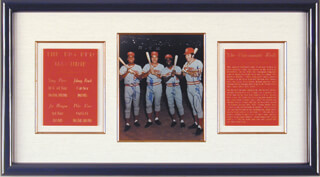 CINCINNATI'S BIG RED - AUTOGRAPHED SIGNED PHOTOGRAPH CO-SIGNED BY: JOHNNY BENCH, JOE LITTLE JOE MORGAN, TONY PEREZ, PETE ROSE