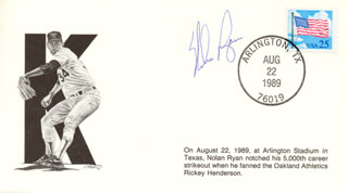 NOLAN RYAN - COMMEMORATIVE ENVELOPE SIGNED