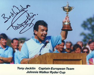 TONY JACKLIN - AUTOGRAPHED SIGNED PHOTOGRAPH