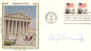 Autographs: ASSOCIATE JUSTICE WILLIAM J. BRENNAN JR. - FIRST DAY COVER SIGNED