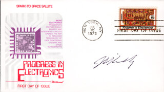 JACK S. KILBY - FIRST DAY COVER SIGNED
