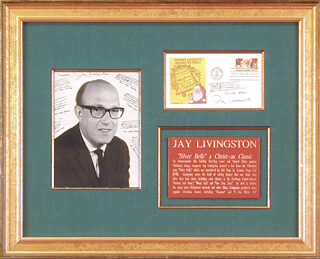 JAY LIVINGSTON - AUTOGRAPH MUSICAL QUOTATION SIGNED 10/28/1983
