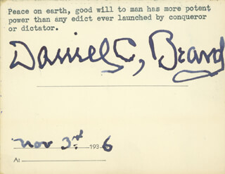 DANIEL C. BEARD - QUOTATION SIGNED 11/03/1936