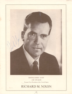 PRESIDENT RICHARD M. NIXON - PROGRAM SIGNED