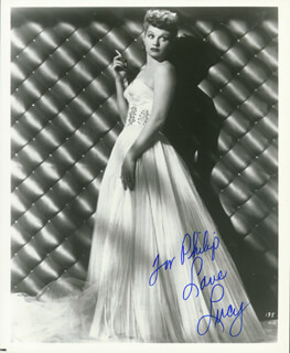 LUCILLE LUCY BALL - AUTOGRAPHED INSCRIBED PHOTOGRAPH