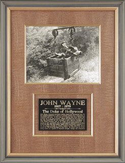 JOHN DUKE WAYNE - AUTOGRAPHED INSCRIBED PHOTOGRAPH 1977
