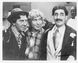 GROUCHO (JULIUS) MARX - AUTOGRAPHED SIGNED PHOTOGRAPH