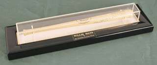 WILLIE SAY HEY KID MAYS - MINIATURE BASEBALL BAT SIGNED