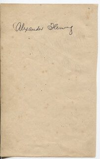ALEXANDER FLEMING - AUTOGRAPH CO-SIGNED BY: ANTONIA MERCÉ Y LUQUE
