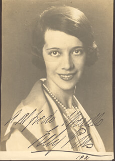 LILY PONS - AUTOGRAPHED INSCRIBED PHOTOGRAPH 1931