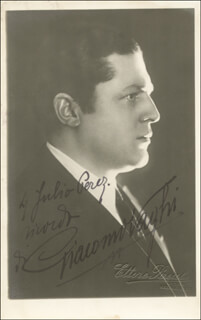 GIACOMO VAGHI - INSCRIBED PICTURE POSTCARD SIGNED